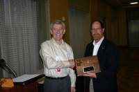 Ron Crockett (left) outgoing President Dan Ball (right) incoming President