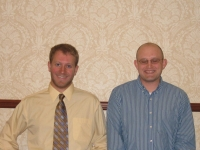 Student Contest-Oral Paper Agronomic Crops and Biology- L-R Nevin Lawrence 2nd Place and Joseph Vassios 1st Place